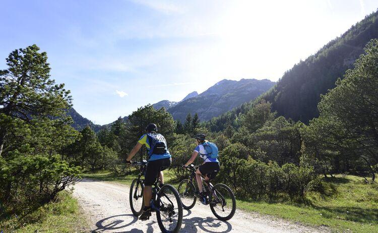 Alpenwelt Karwendel Isarradwg bei Ried © Stefan Eisend