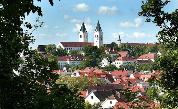 Der Freisinger Domberg mit Altstadt © TI Freising Rainer Lehmann