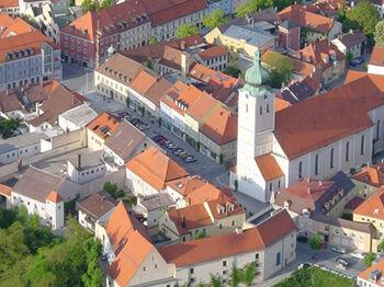 9 Landau Stadtansicht Luftbild Zentrum 04 Fh Ballonfahrt Anton Hoelzl Web