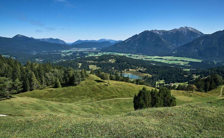 Panorama vom Kranzberg @ Alpenwelt Karwendel