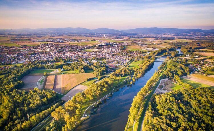 Luftbild Isar Bei Plattling Landkreis Deggendorf